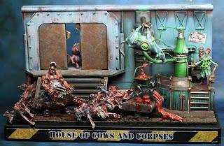 A slaughterhouse diorama