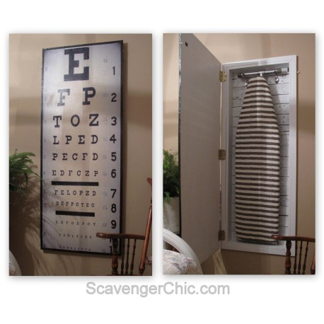 DIY Ironing Board Cabinet- Scavenger Chic-Treasure Hunt Thursday- From My Front Porch To Yours