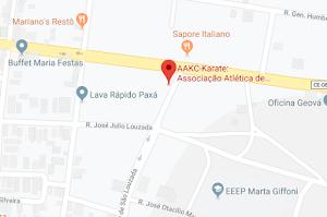LOCALIZAÇÃO DA AAKC MATRIZ: