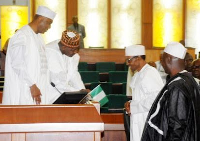 Senate receives letter for the corrected version of 2016 budget from the presidency.