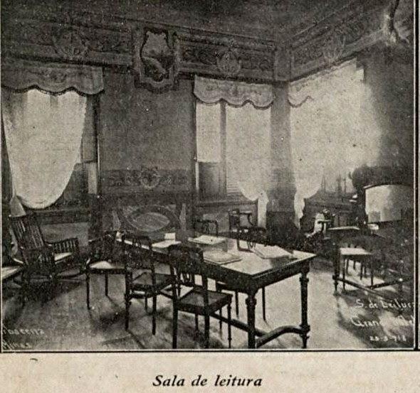 GRANDE HOTEL DE BARBACENA 1919 SALA DE LEITURA