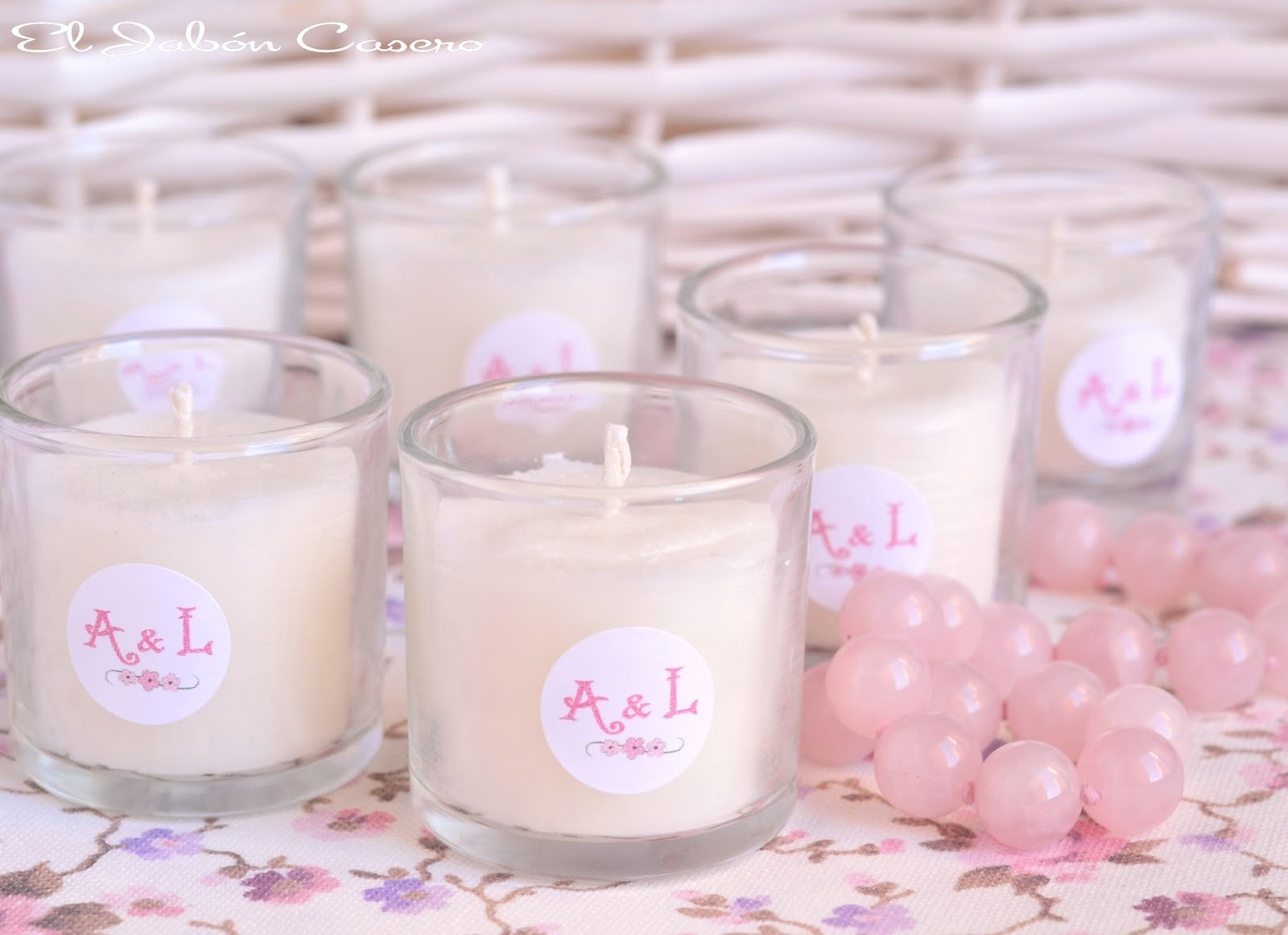 detalles personalizados de boda velas naturales