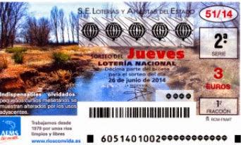 Sorteo 51 de la Lotería Nacional del jueves 26 de junio de 2014