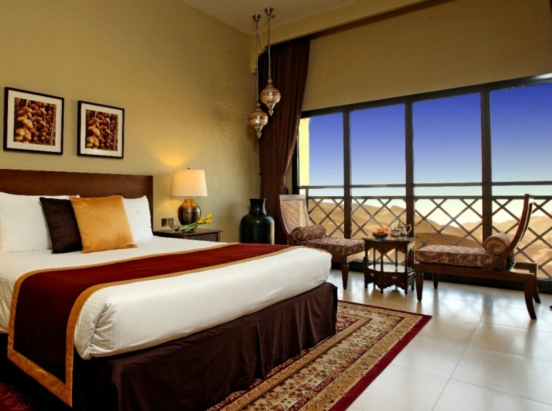 The Arabian-style décor inside the rooms are understated and visually appealing