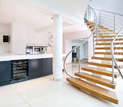 Fotos de escaleras escaleras de lujo for Escaleras para casas de 2 pisos