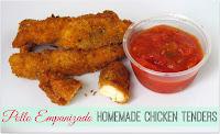 pollo empanizado casero - homemades chicken tenders