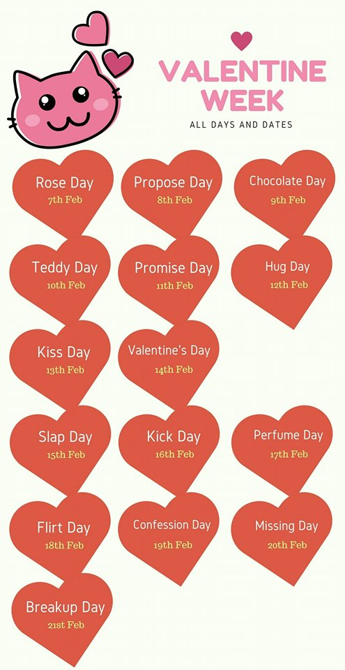 Valentines Week - All Days and Dates