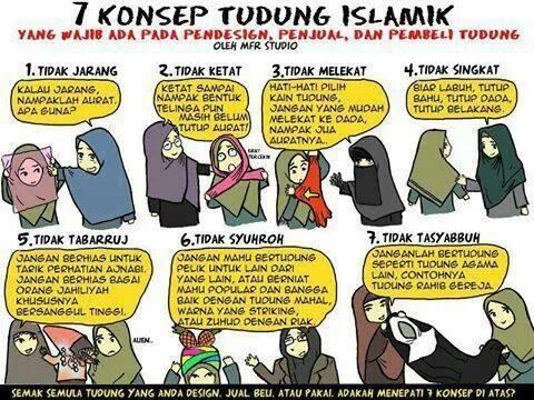 7 Konsep Tudung Mengikut Syariat Islam!