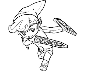 #10 Link Coloring Page