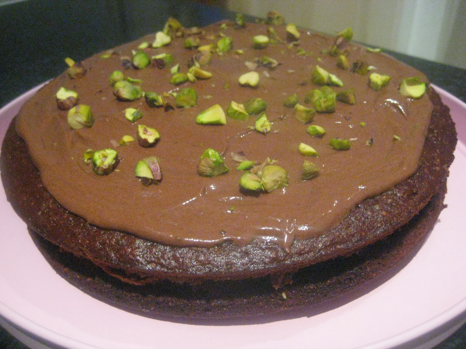 Let them eat cake!: Chocolate, courgette and pistachio cake