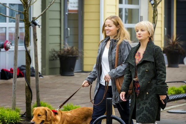 MY BOYFRIEND'S  DOGS (2014). Erika Christiansen stars in this vintage Hallmark rom-com. All text is © Rissi JC and RissiWrites.com