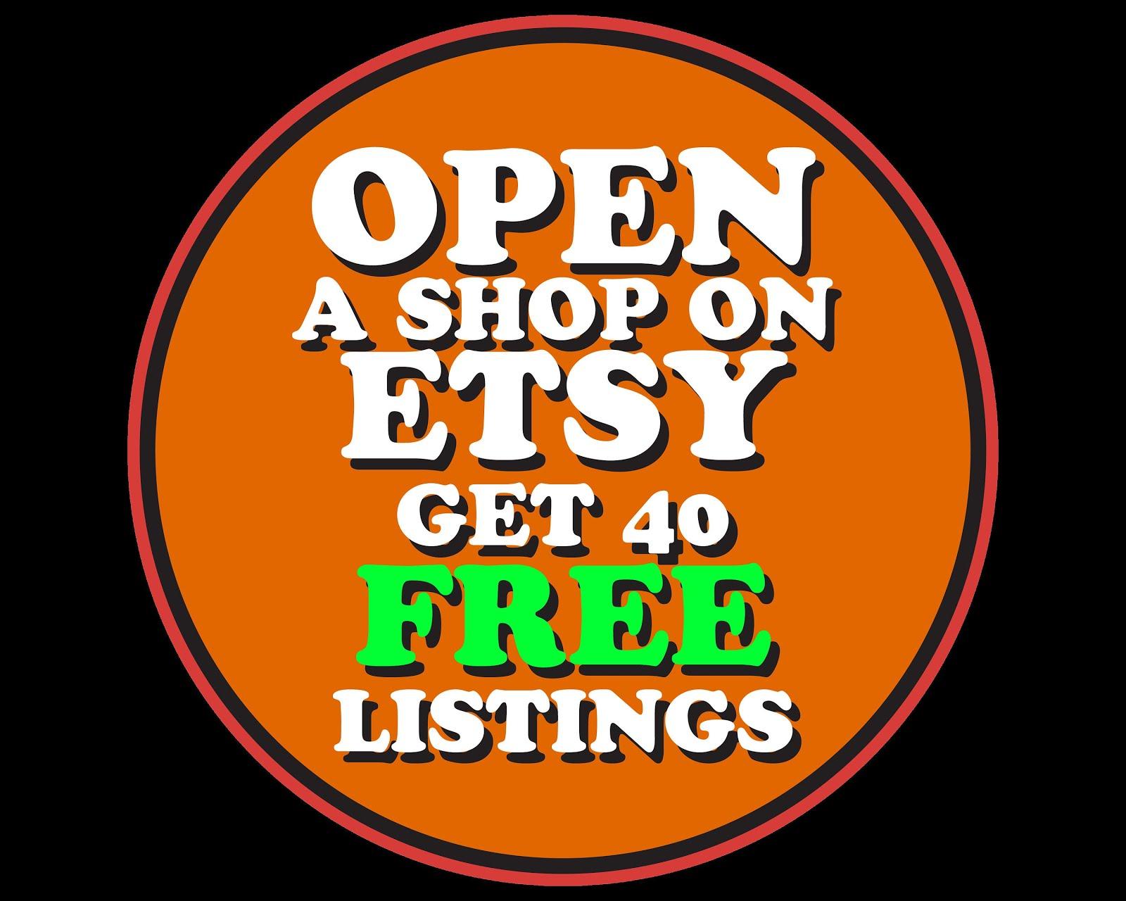 Etsy 40 Free listings