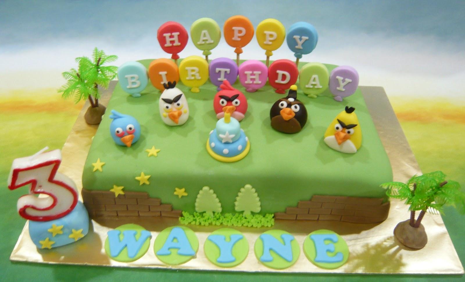 Jenn Cupcakes Muffins Angry Bird Birthday Theme Cake