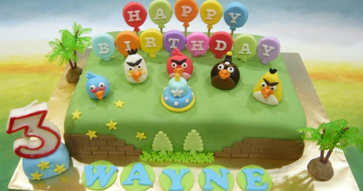 Jenn Cupcakes & Muffins: Angry Bird Birthday theme Cake
