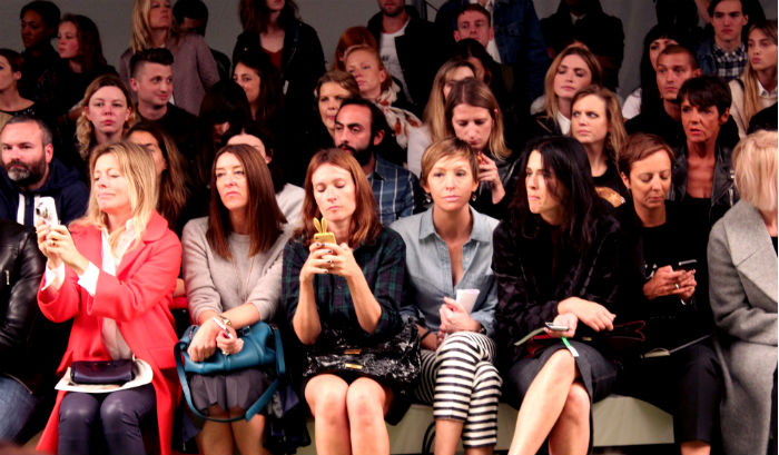 Fashion Editors LFW Front Row