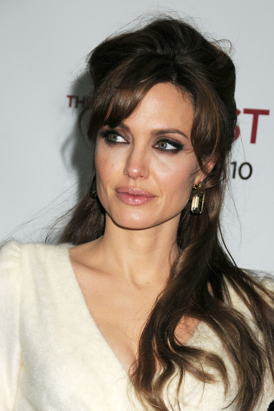Angelina Jolie Bob Hair An updo hairstyle done on
