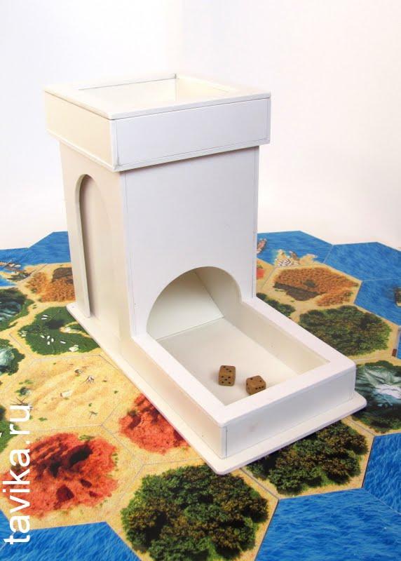 Как сделать башню для перемешивания игральных кубиков