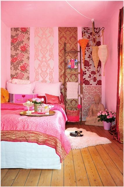 ooh:farbe bekennen im ethnoshabby-schlafzimmer & mmh:tabouleh ... - Schlafzimmer Pink Weis