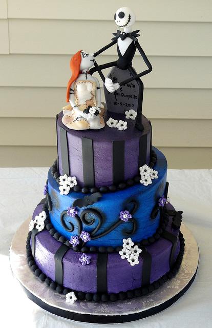 Beautiful wedding cake for a celebration nightmare before nightmare before christmas wedding cake uk junglespirit Image collections
