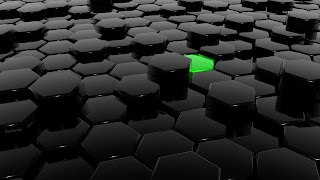 3D Hexagon Bars HD Wallpaper