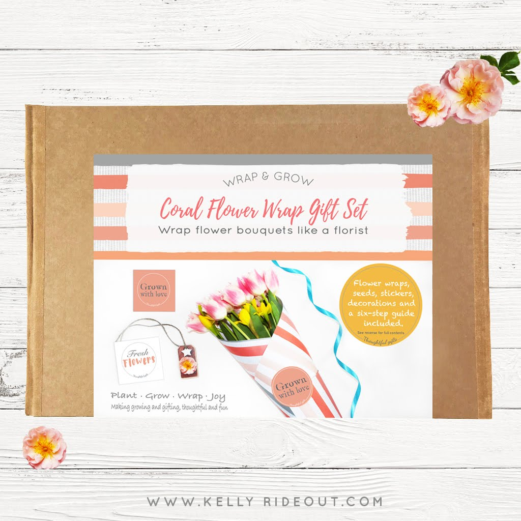 Coral Flower Wrap Gift Set