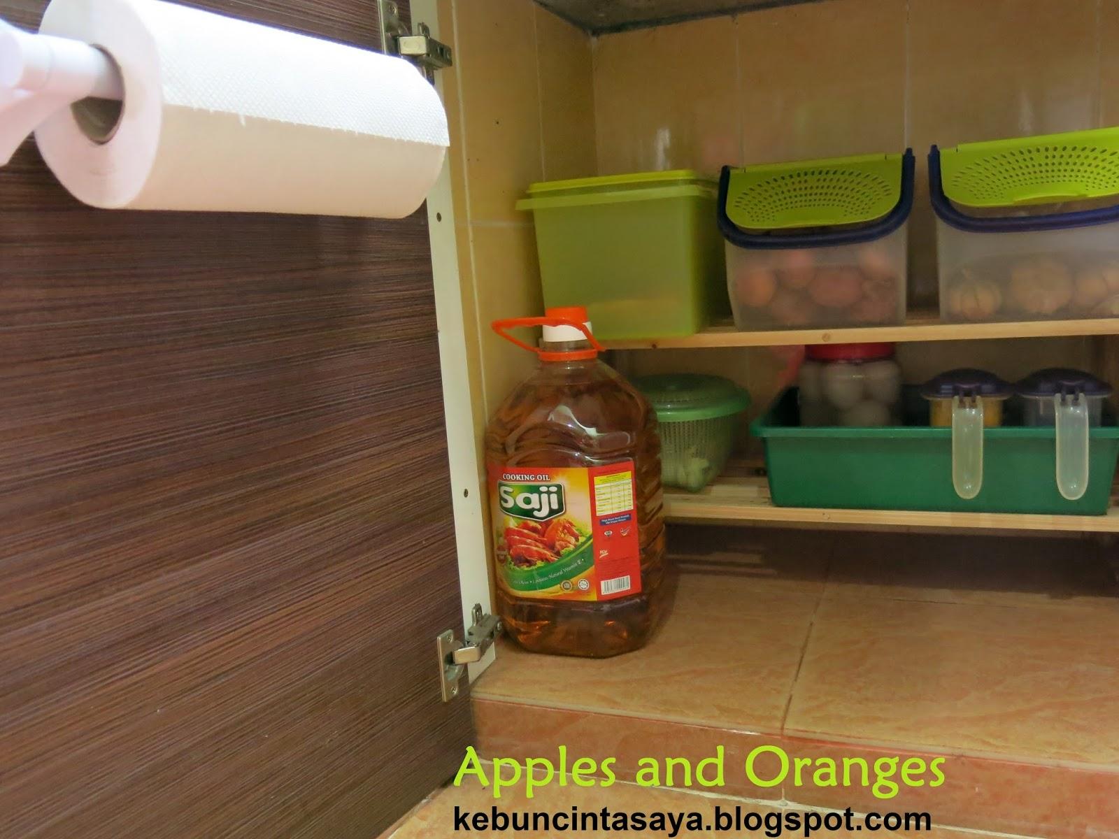 apples and oranges rak kasut bawah kabinet dapur