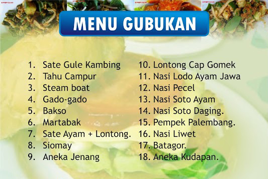 Menu gubukan wedding