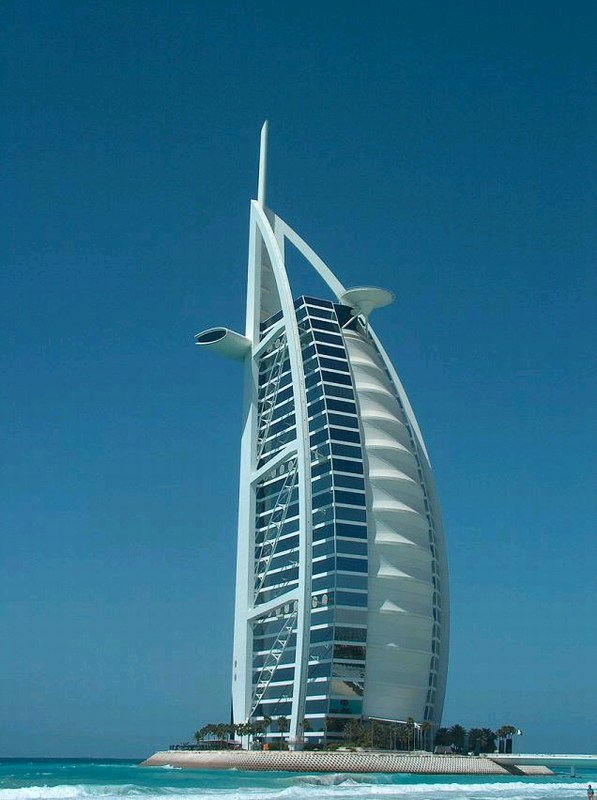 Famous burj al arab for Dubai 7 star hotel name
