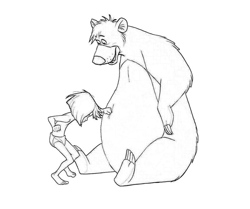 baloo coloring pages - photo#9