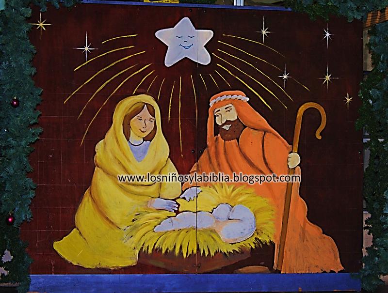 Los ni os y la biblia mural para navidad - Murales decorativos de navidad ...