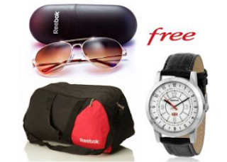 Rediff.com : Buy Reebok Gym Duffle Bag And Sunglasses With Free Reebok Watch,worth Rs. 2499 at Rs.399 only.