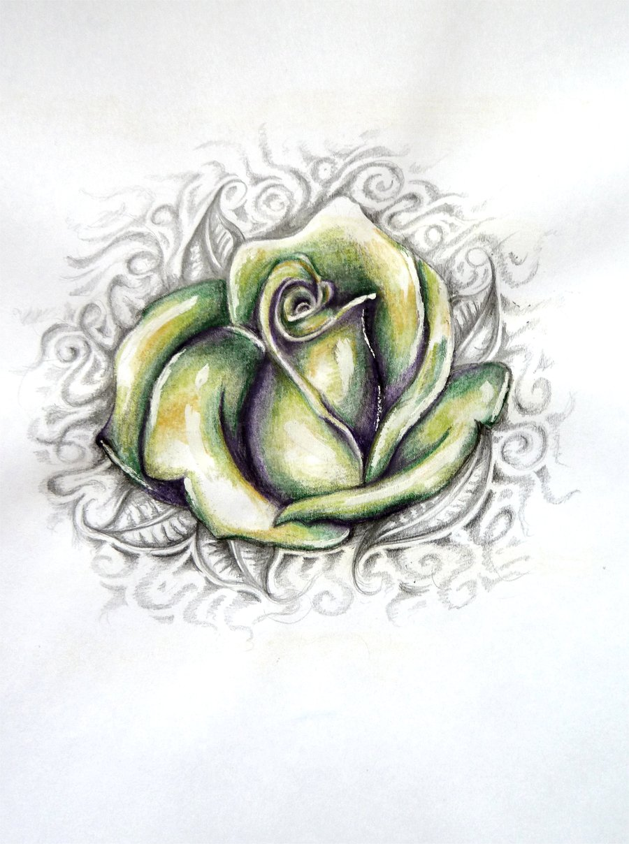 Ezee beauty exotic rose tattoos for Rose tattoo patterns