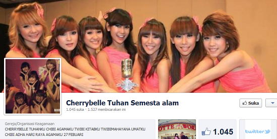 Agama Tuhan Cherry Belle Facebook