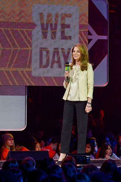 Queen Noor of Jordan speaks at We Day Toronto at the Air Canada Centre, 02.10.2014 in Toronto, Canada.