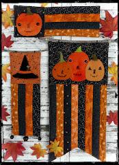 prim Halloween mini quilts pattern