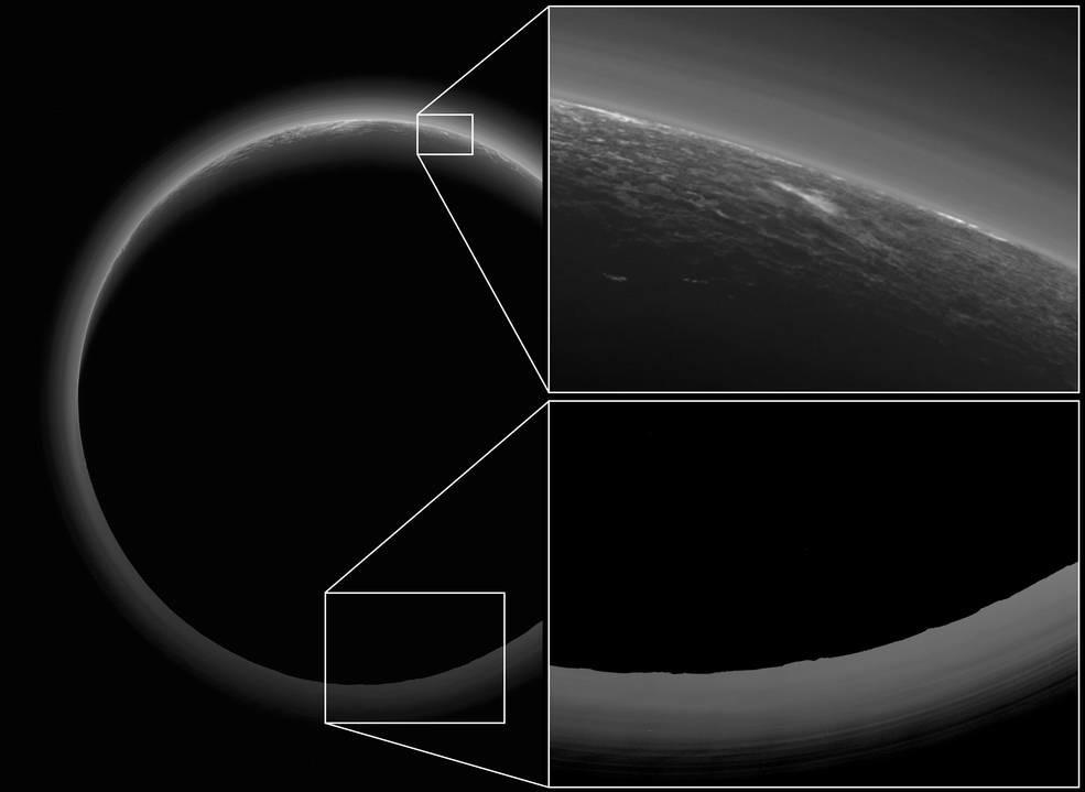 La zona crepuscular de Plutón