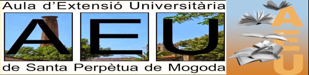 L'Aula d'Extensió Universitària a Santa Perpètua