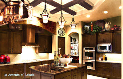 country style kitchen design and remodeling- wooden cabinets