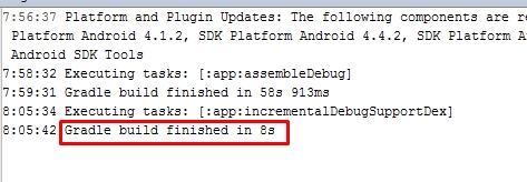 faster 2.0 beta gradle build
