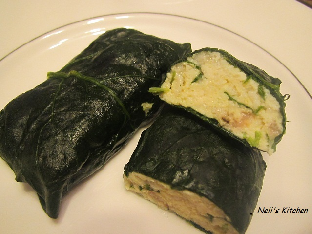 Tofu Wrap in Spinach