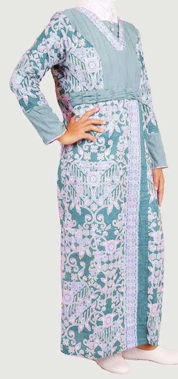 Model Gamis Batik Kombinasi Banyak Pilihan Warna