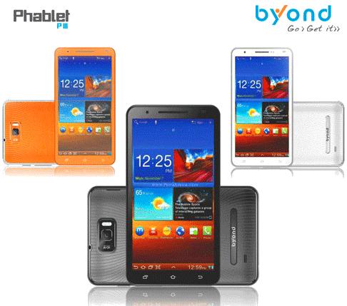 Byond Phablet PIII dual SIM smart phone