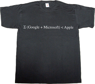 google microsoft apple math t-shirt ephemeral-t-shirts