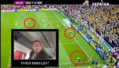 Очки нннада? Ответ фанатов на судейство в матче Англия-Украина.