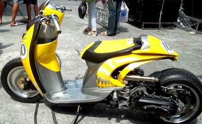 gambar modifikasi motor ekstrem
