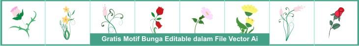 Motif Bordir Bunga