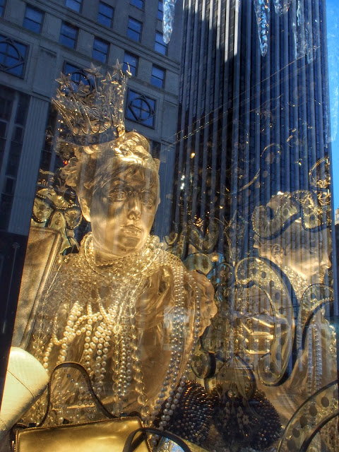 Golden King of Mardi Gras #BGwindows #5thAvenueWindows NYC 2013