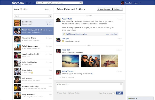 facebook message new look and changes