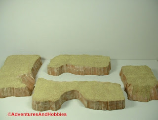 Desert terrain pieces for miniature war games - group 4.