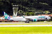 Evelop! hace historia en el aeropuerto de Bilbao aterrizando el primer Airbus A350 de su cronología